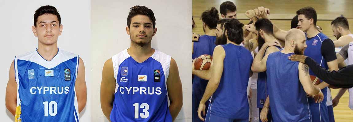 Στην εθνική ομάδα: George Vor Porfiridis և Nicholas Papadimitriou